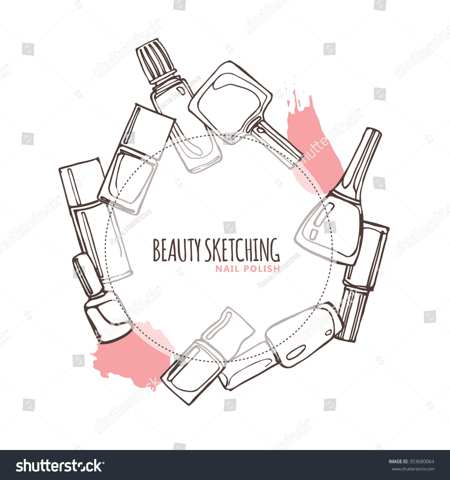 Nail polish nail lacquer fingernail polish stock vector 353680064 nail polish nail lacquer fingernail polish nail enamel set make up pooptronica Gallery