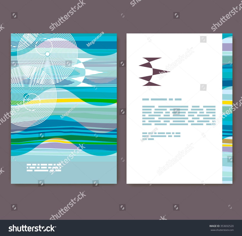 Flyer leaflet booklet layout editable design stock vector for Editable brochure templates free