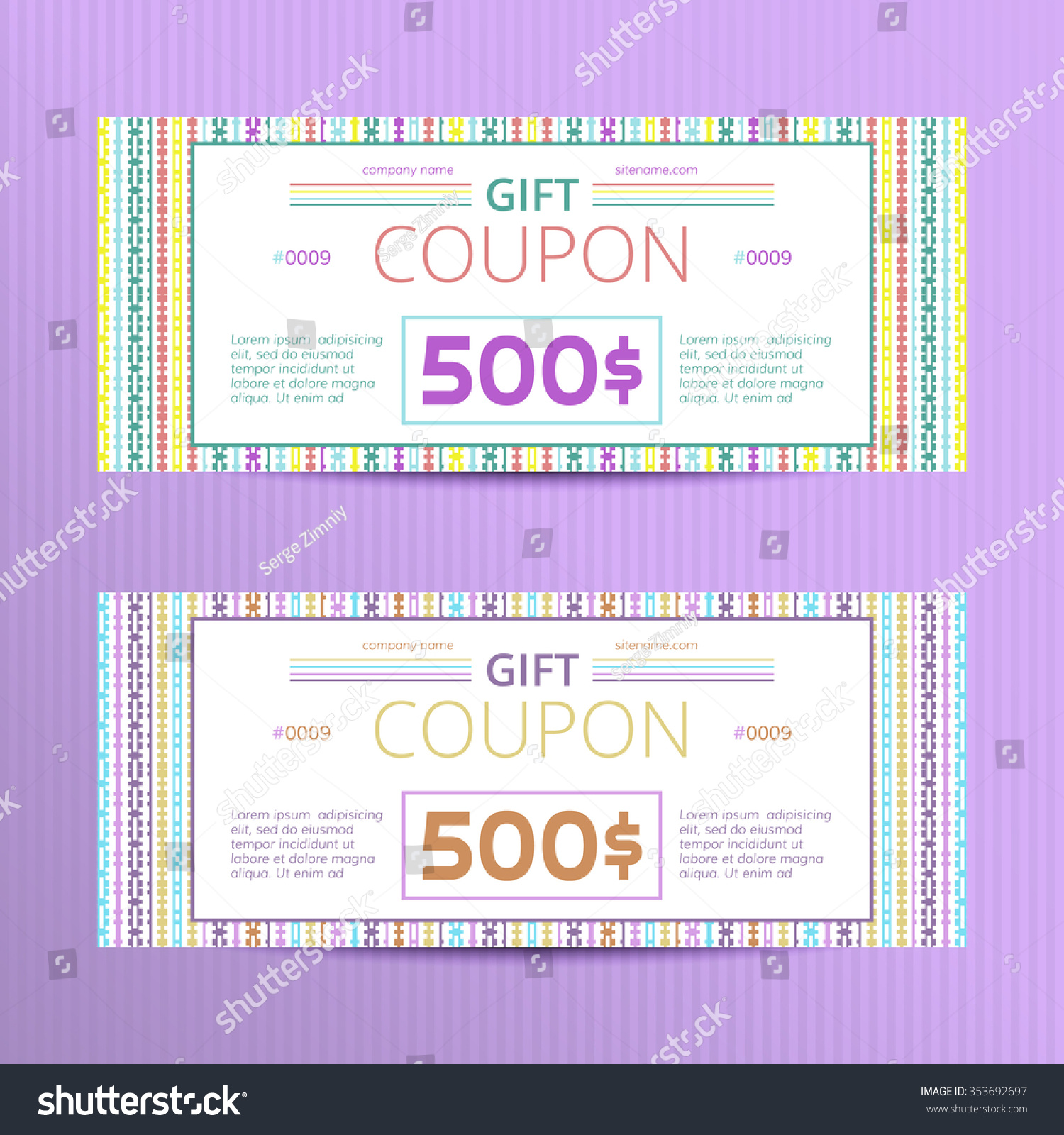 vector illustration of gift vouchers discount cards s save to a lightbox