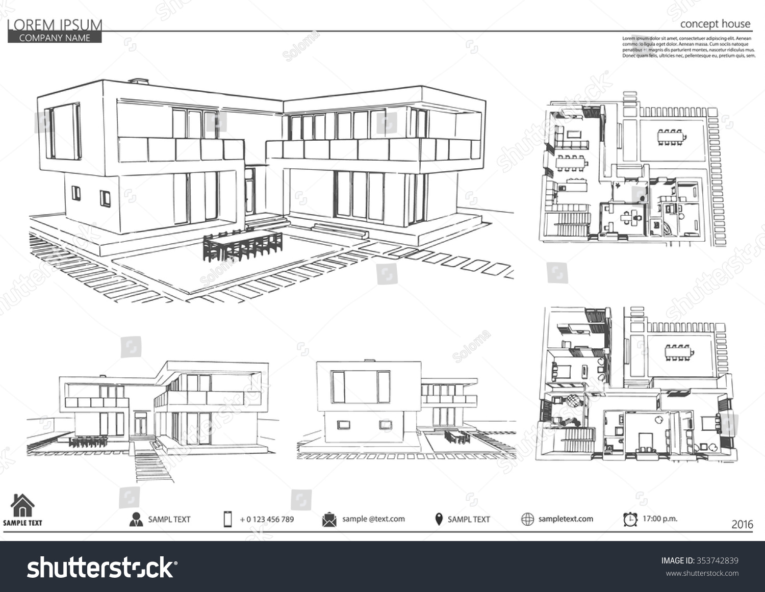 Wireframe blueprint drawing 3 d building vector stock vector wireframe blueprint drawing of 3d building vector architectural template background malvernweather Gallery