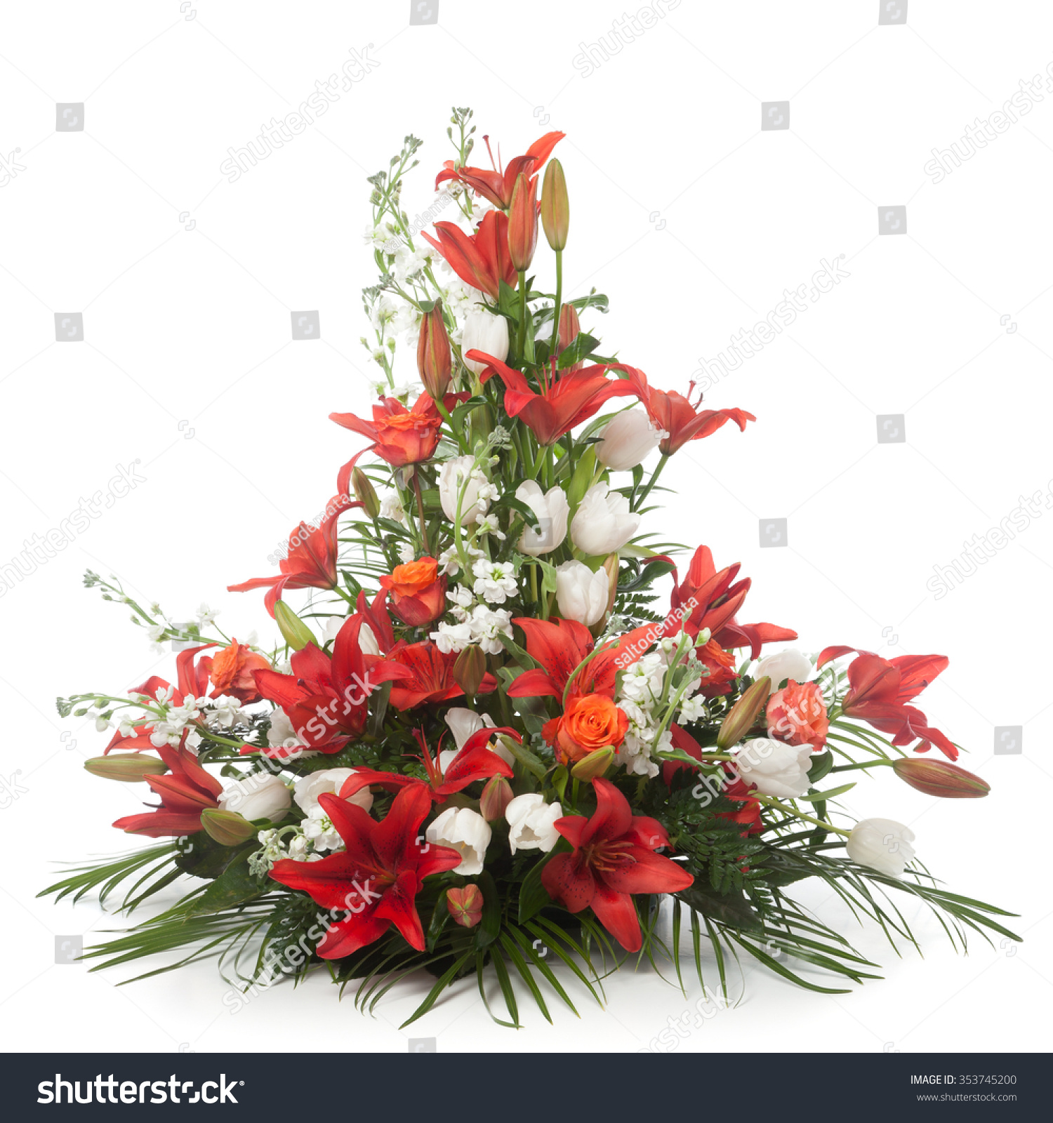 Flower Arrangement Made Lily Snapdragon Lily Stock Photo Edit Now
