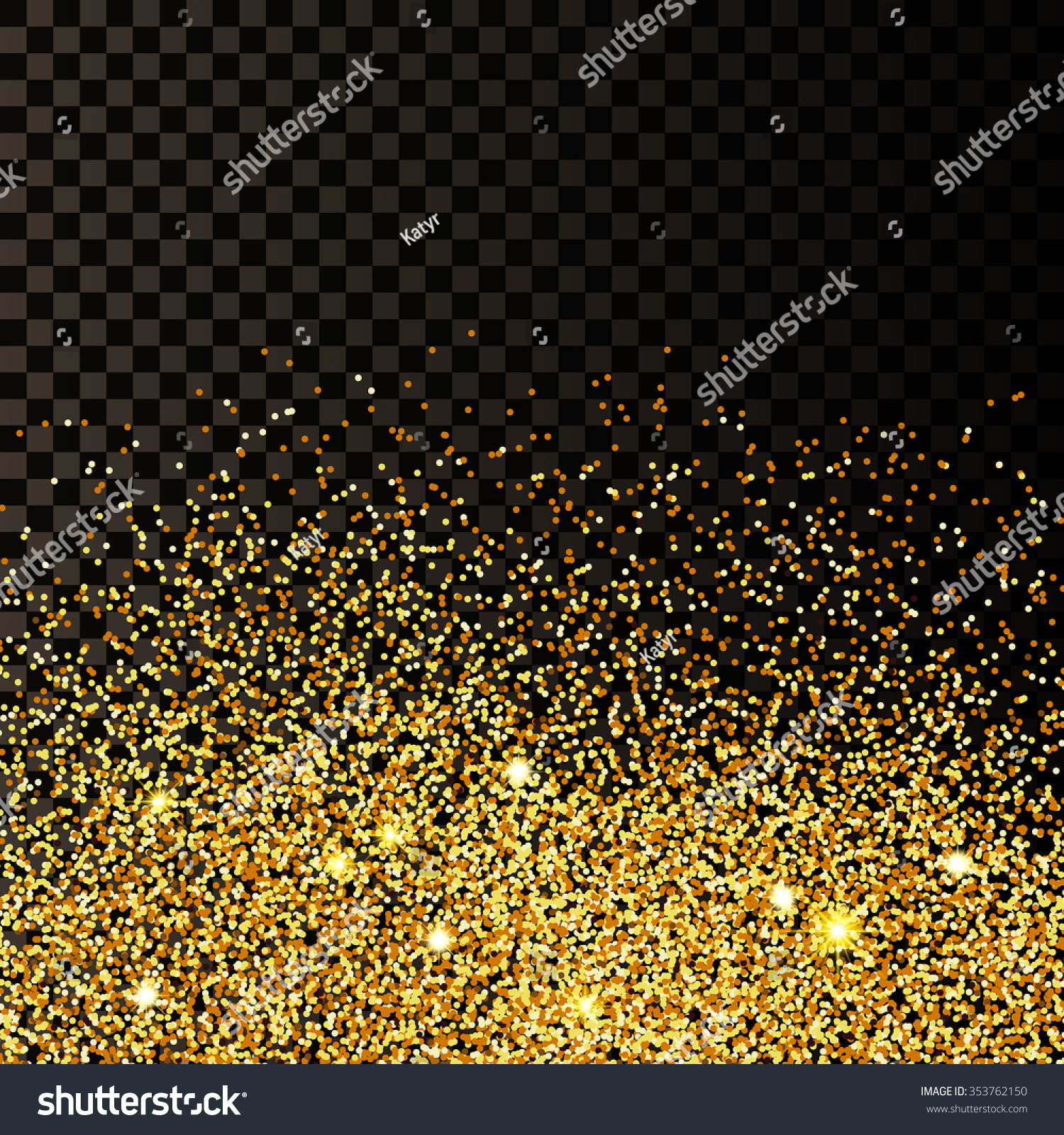 Gold glitter bright vector transparent background golden sparkles - Vector Illustration Of Golden Confetti Background For Design Website Background Banner Gold