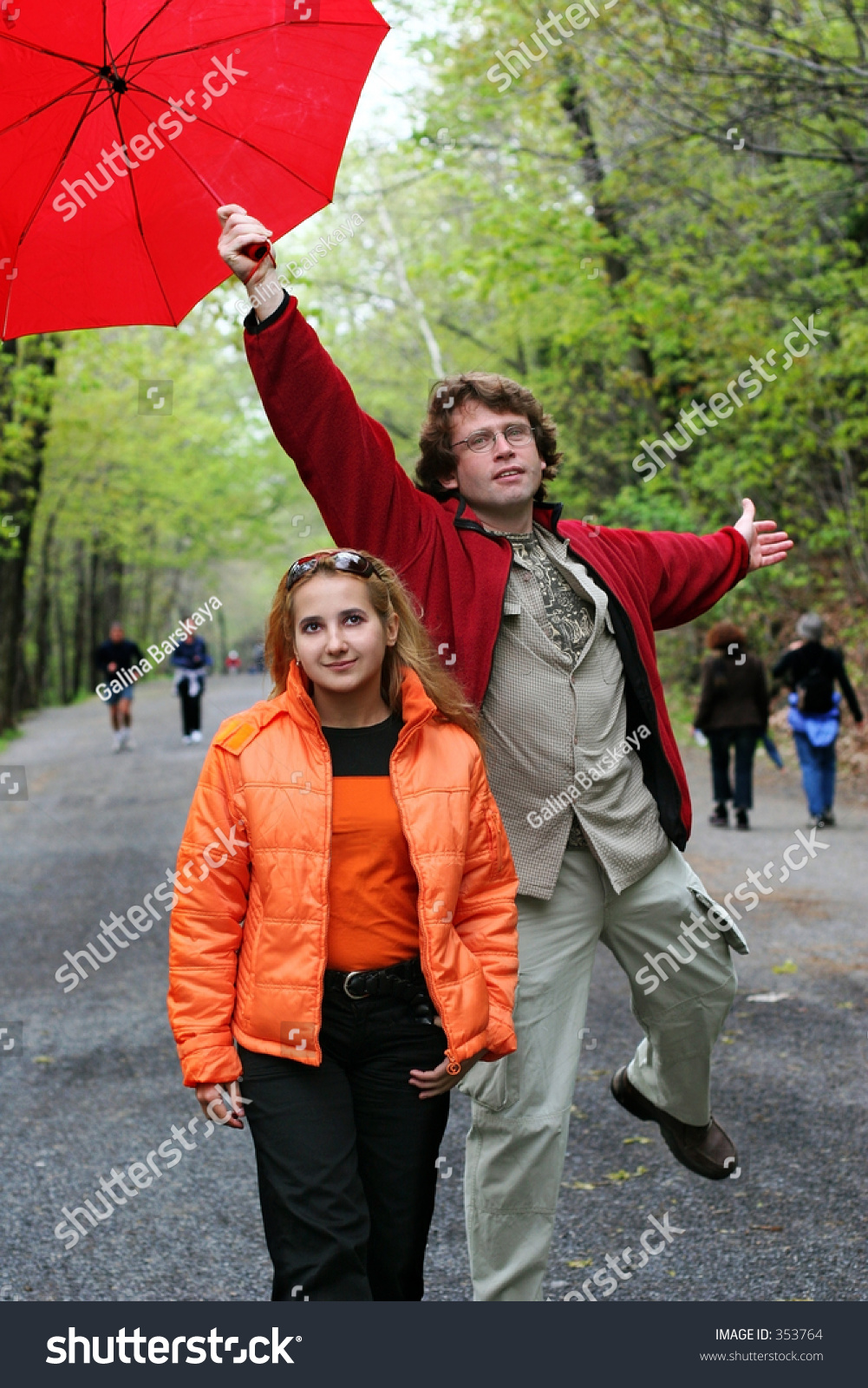 romantic couple walking park stock photo 353764 shutterstock