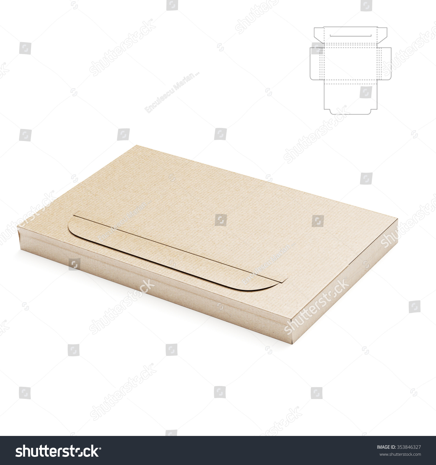 Slim Business Card Folder Box Die Stock Illustration 353846327 ...
