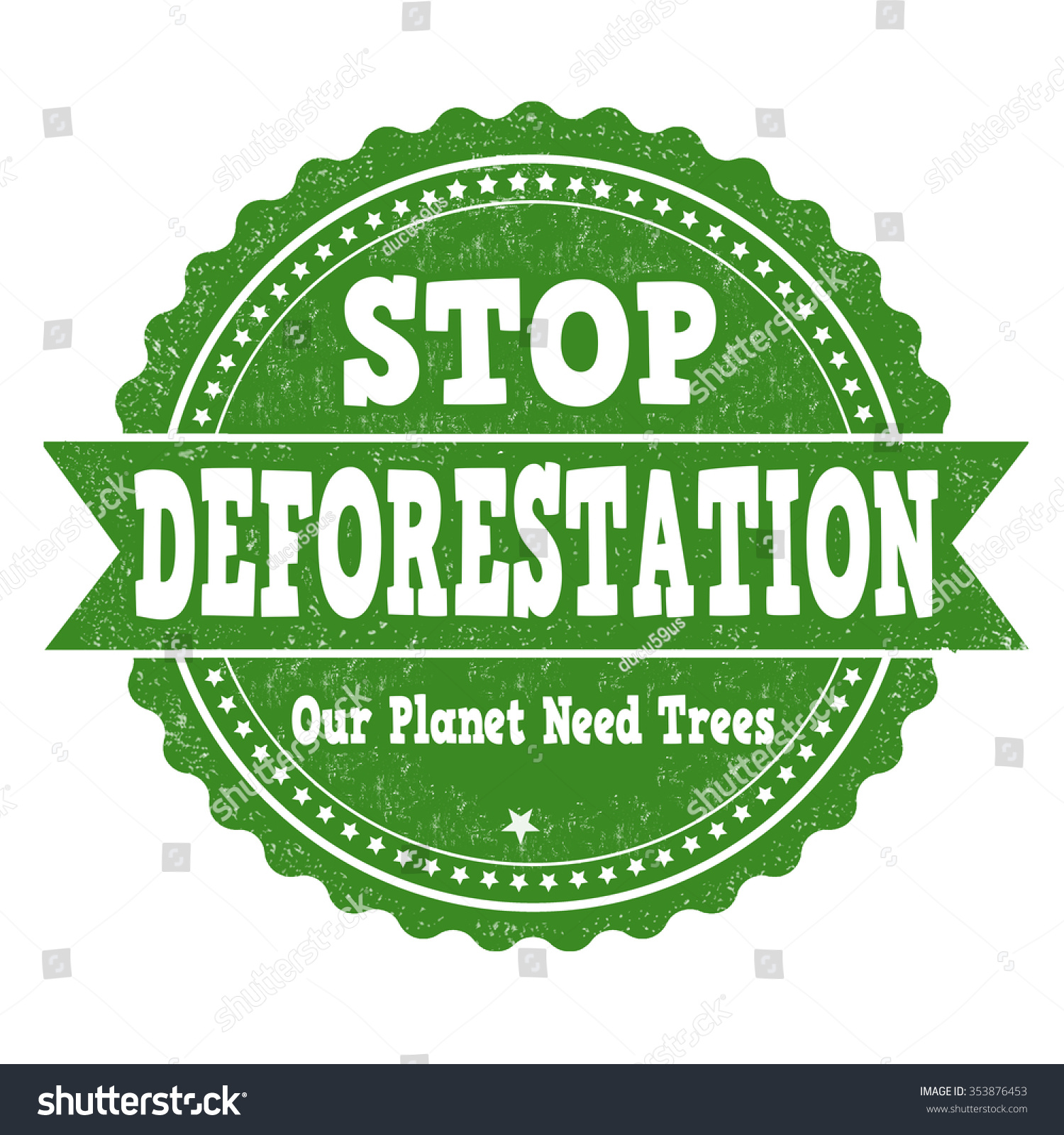stop deforestation Deforestation is clearing earth's forests on a massive scale, often resulting in damage to the quality of the land as a result millions of species are deprived of a habitat, and larger amounts of carbon dioxide enter the atmosphere increasing the speed and severity of global warming.