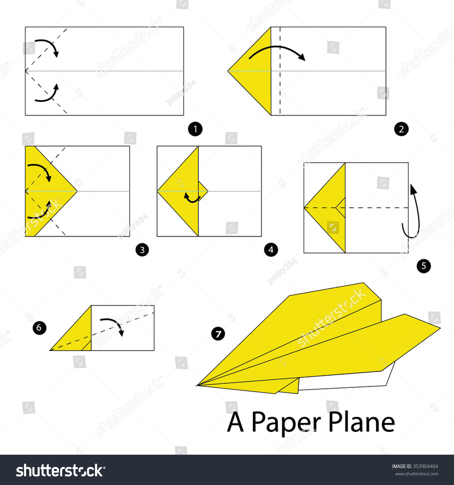 origami jet plane instructions