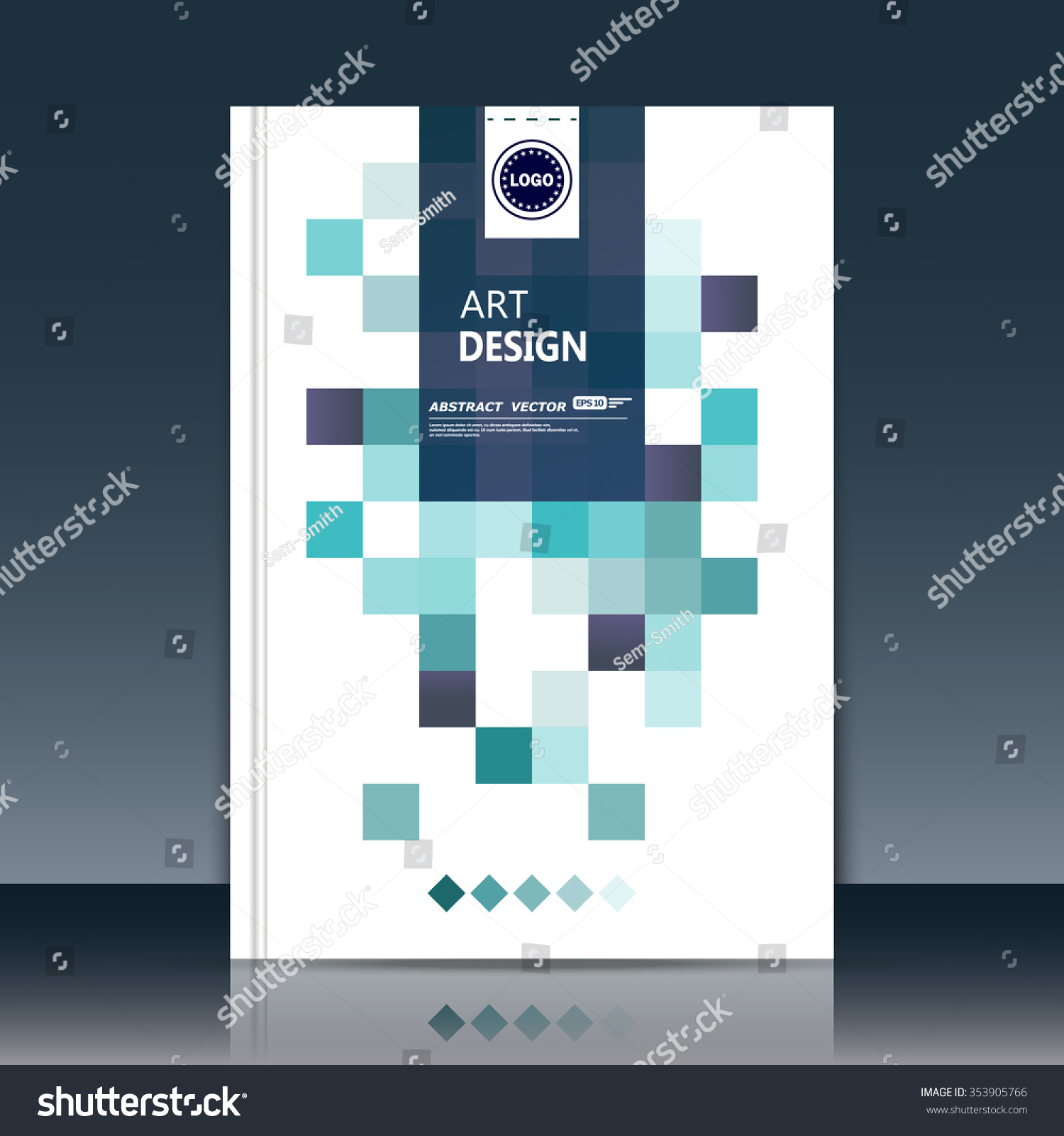 Abstract Composition Green Business Card Backdrop Stock Vector ...