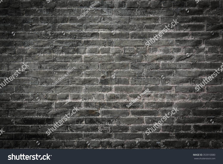 Black Brick Wall dark brick wall black gray brick stock photo 353910080 - shutterstock