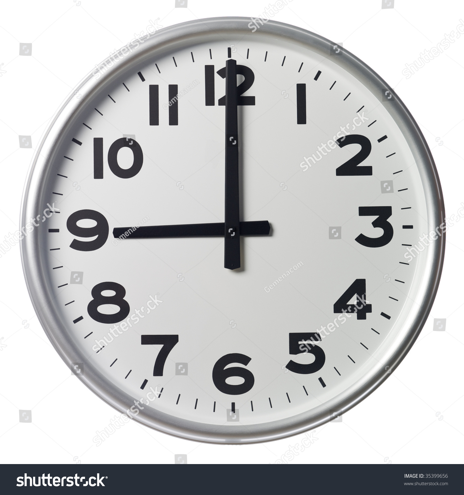 Nine Oclock Stock Photo 35399656