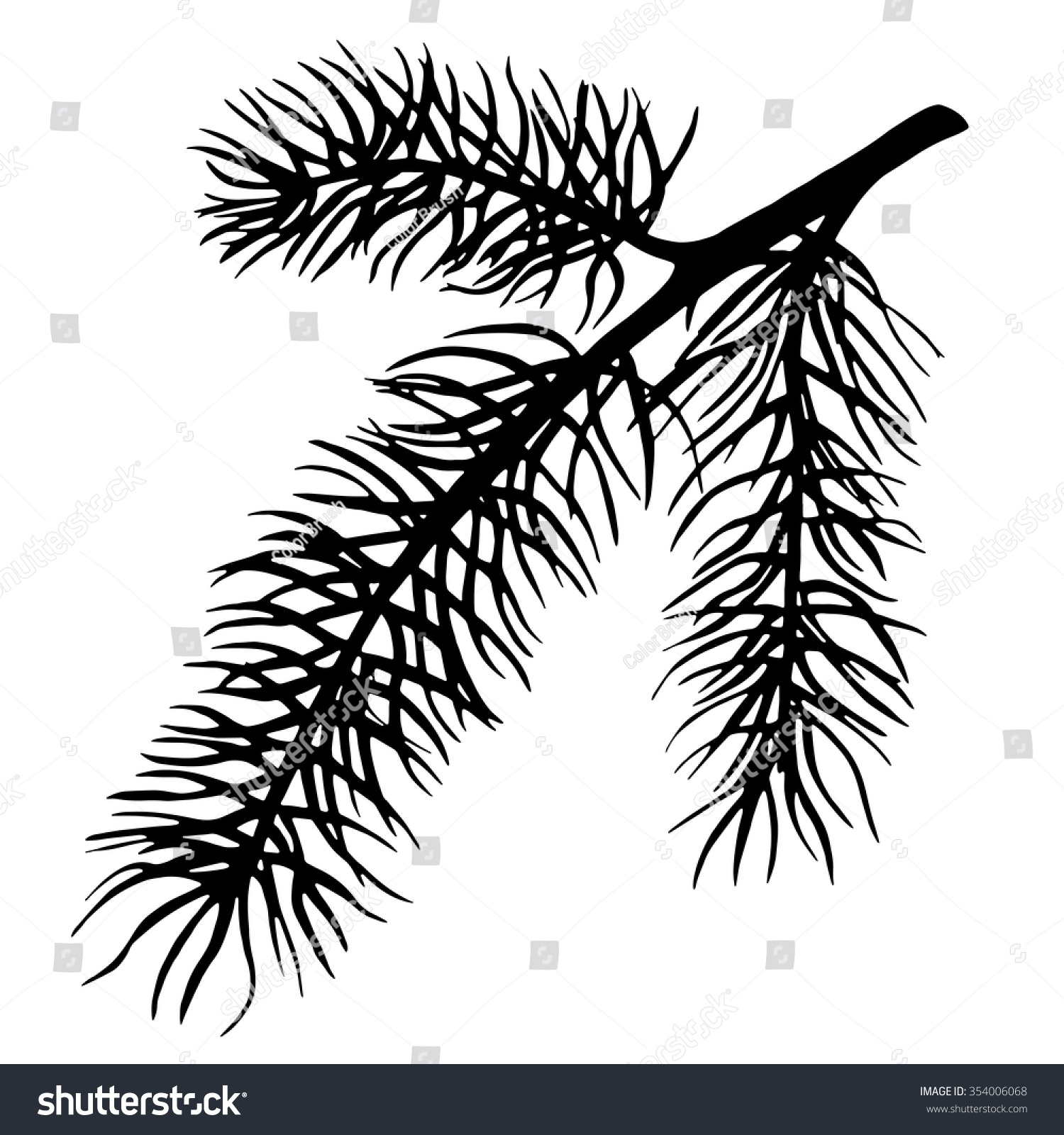 christmas tree branch vector - photo #6
