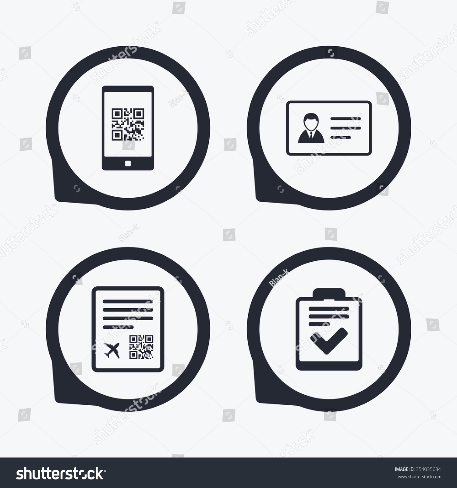 Qr Scan Code Smartphone Icon Boarding Stock Vector Hd Royalty Free