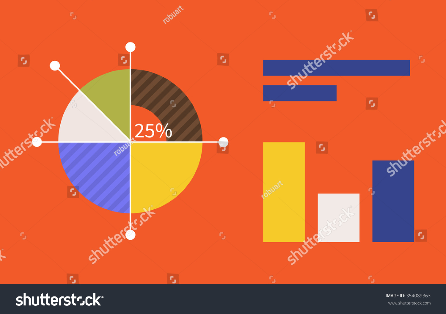 Pie chart flat sign design concept stock illustration 354089363 pie chart flat sign design concept graph pie infographics and pie chart diagram nvjuhfo Image collections