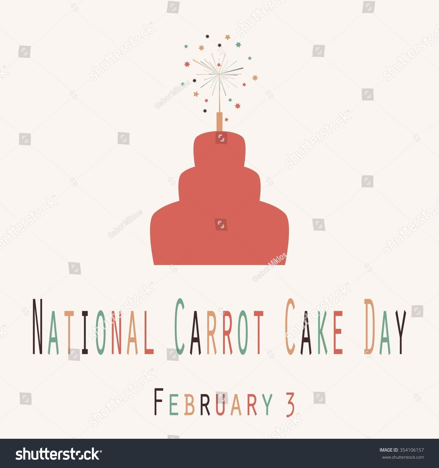 National Carrot Cake Day Funny Unofficial Stock Vector 354106157 ...