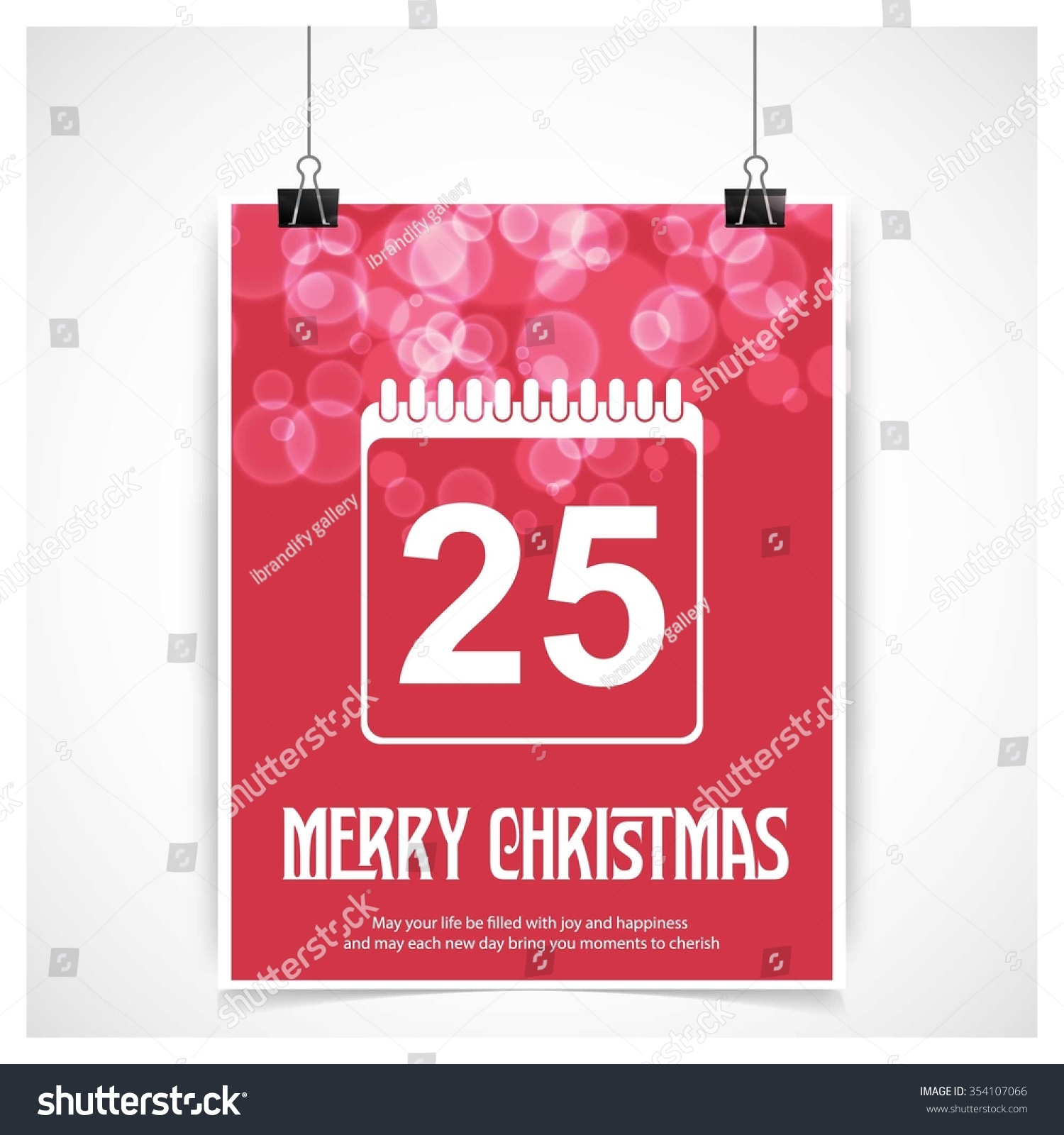 Calendar Typography Vector : Christmas calendar icon card creative