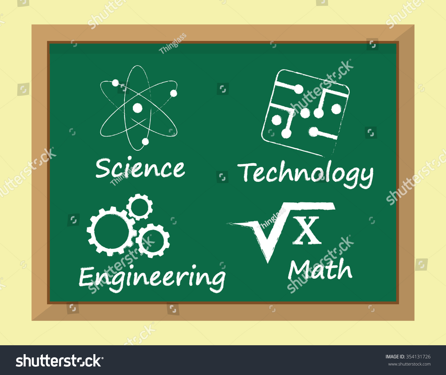 Science Technology: Called Stem Subjects Learning Science Technology Stock