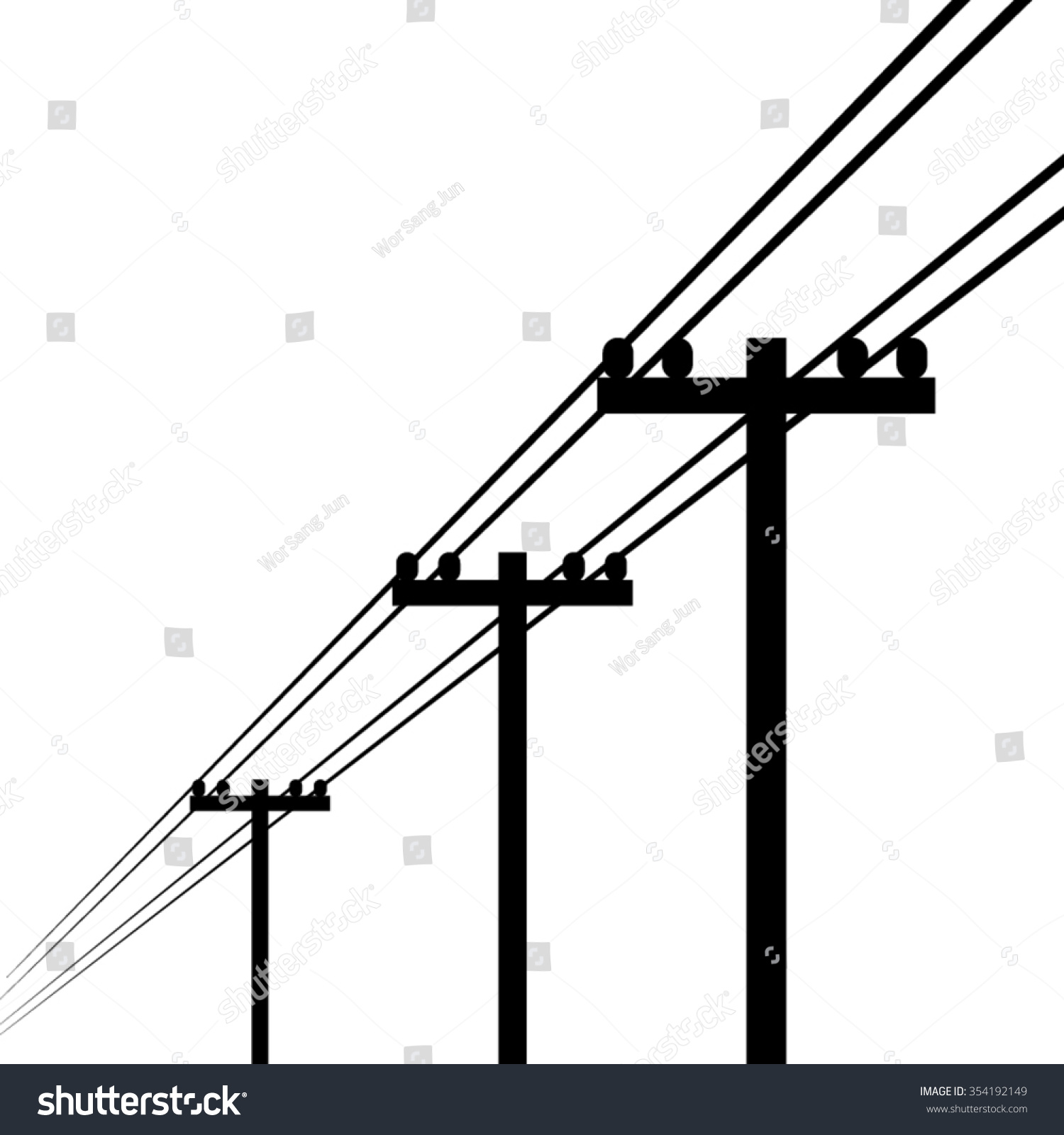 Electrical Power Poles : Electricity pole vector stock shutterstock