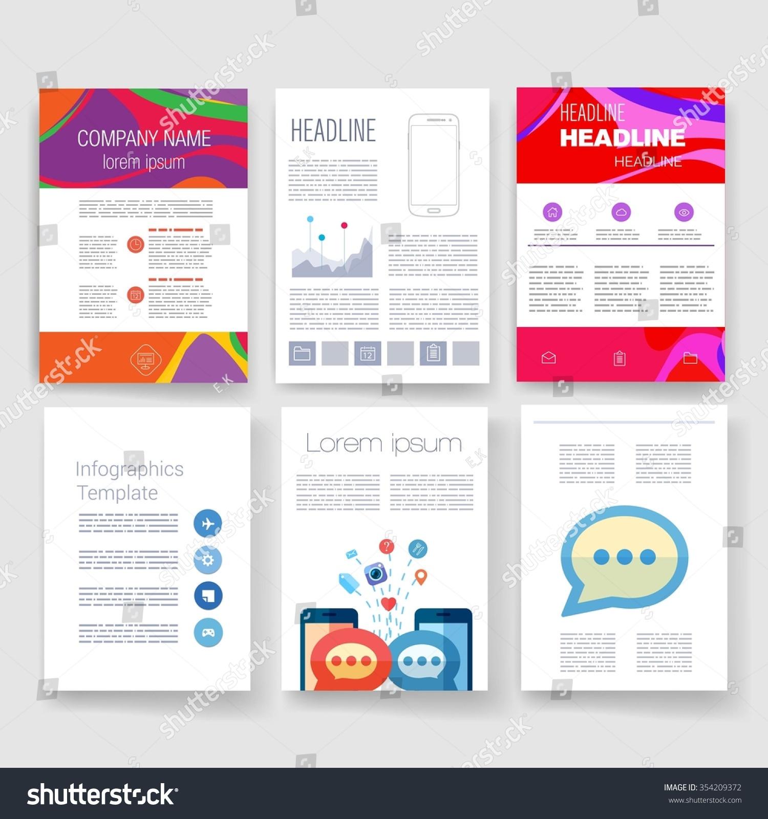 mail designer pro templates - brochure design template set templates design stock vector