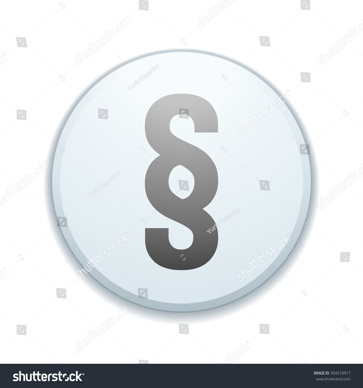 Section sign button stock illustration 354210917 shutterstock section sign button buycottarizona Choice Image