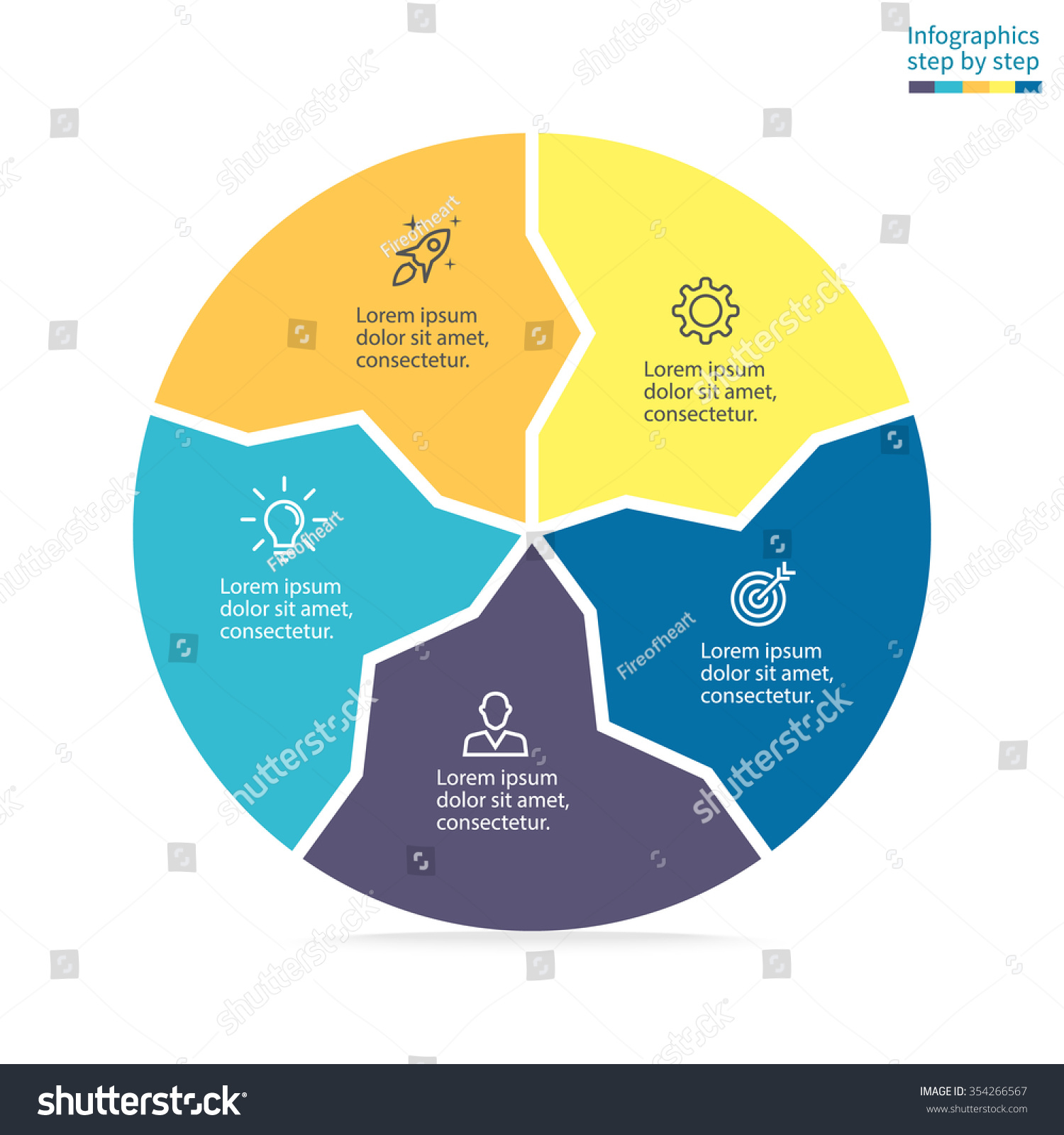 Circular diagram arrows inside pie chart stock vector 2018 circular diagram with arrows inside pie chart graph diagram with 5 steps ccuart Images