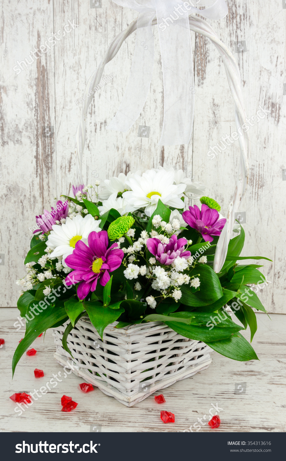 Beautiful Unique Arrangement Flowers Gift Womens Stock Photo Edit