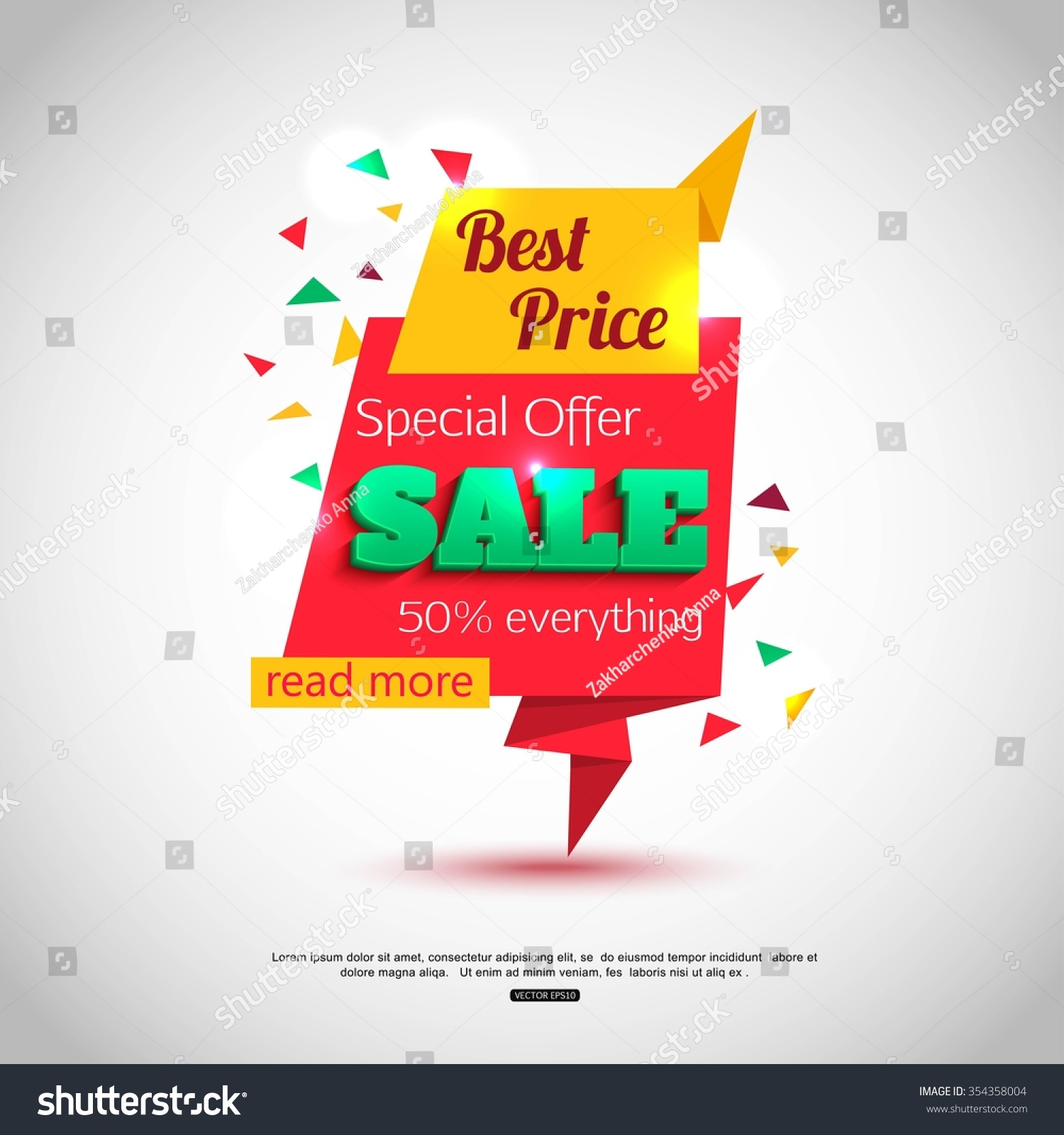 Sale Banner Design Sale Background Your Stock Vector