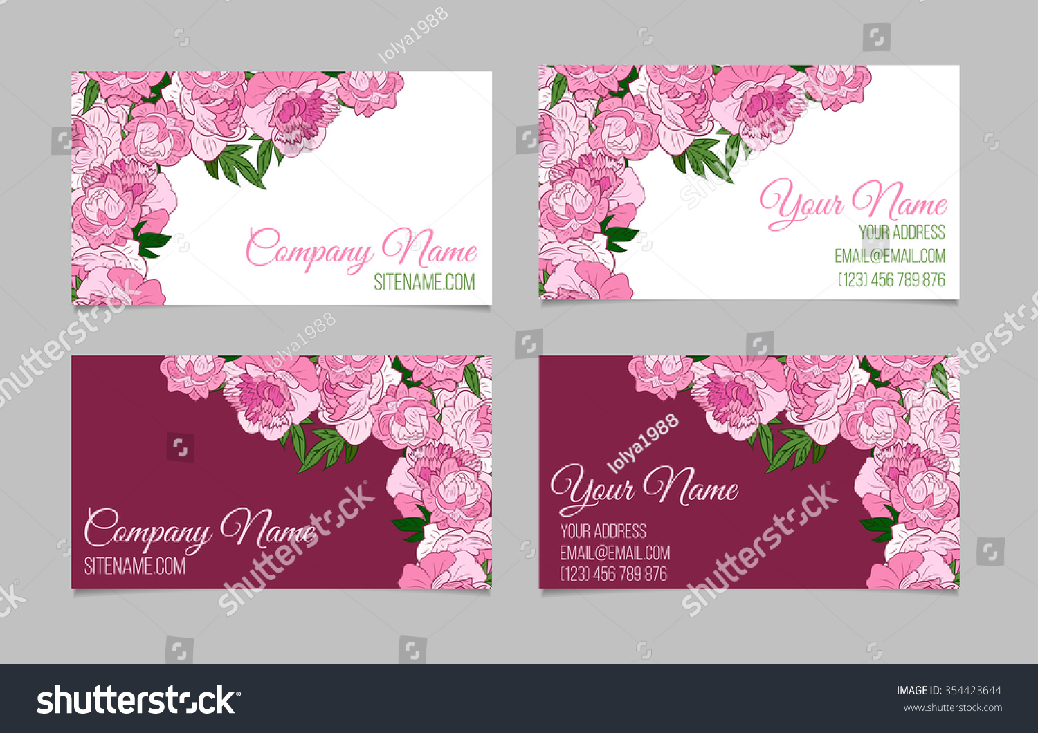 floral business card template - Military.bralicious.co