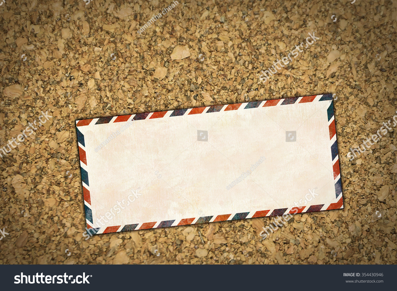 Old Letter Envelope On Sawdust Background Concept Of Antique Retro Business Postage