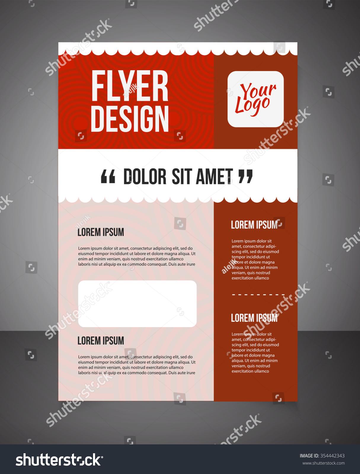 business brochure offer flyer design template stock vector royalty