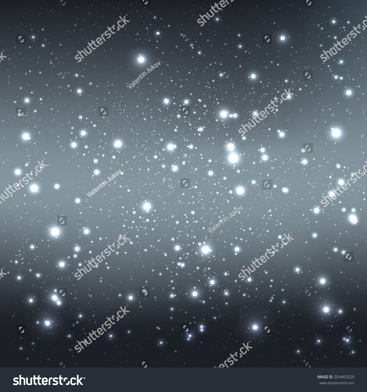 Dark Galaxy Background With Light Stars Vector Illustration Xmas And New Year