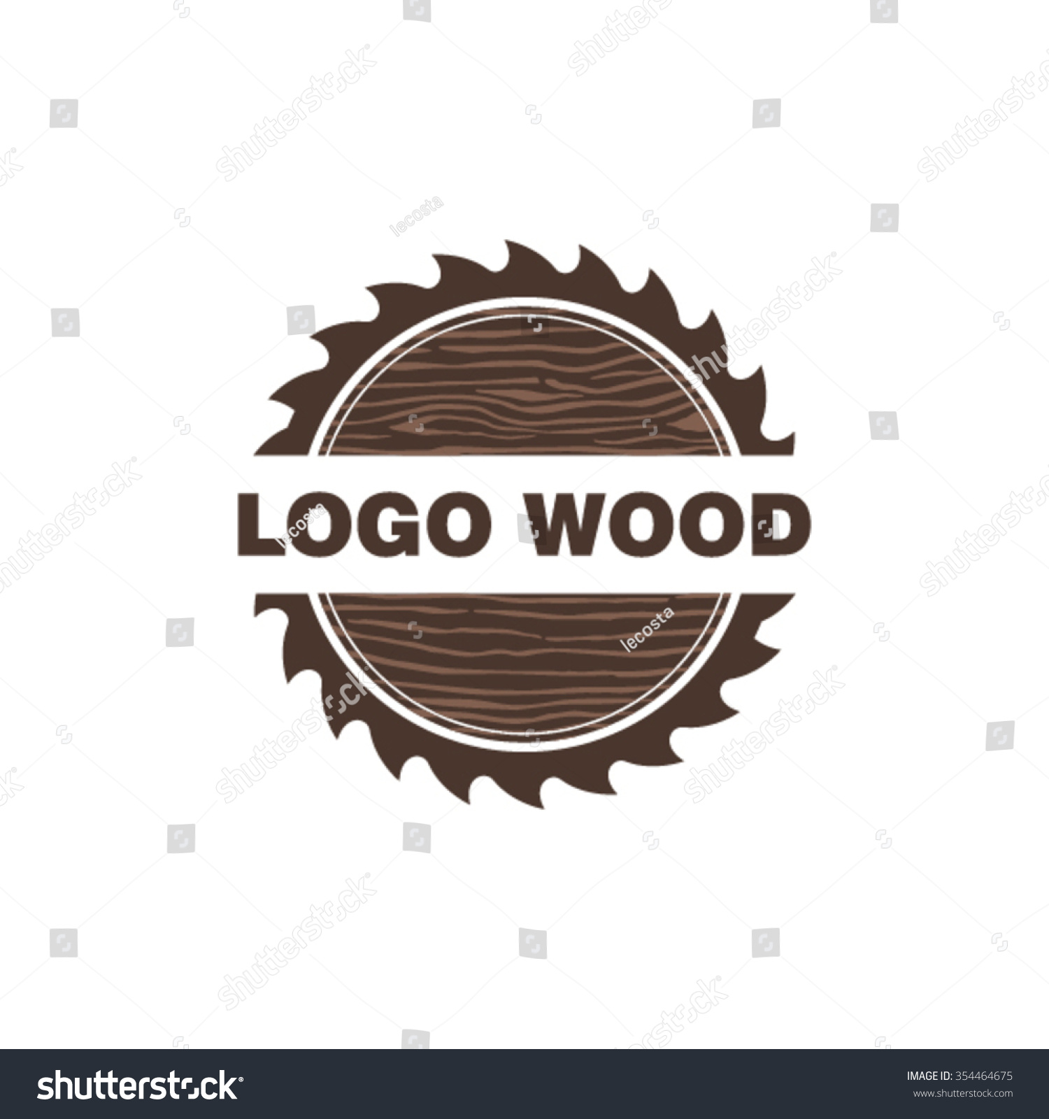 Woods Lumber Logo ~ Woodworking logo design stock vector shutterstock