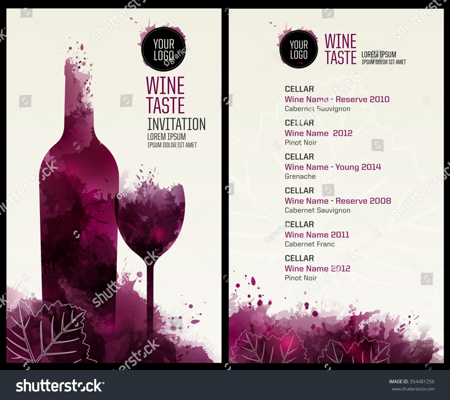 Royaltyfree Invitation Template For Event Or Party - Wine tasting event flyer template free