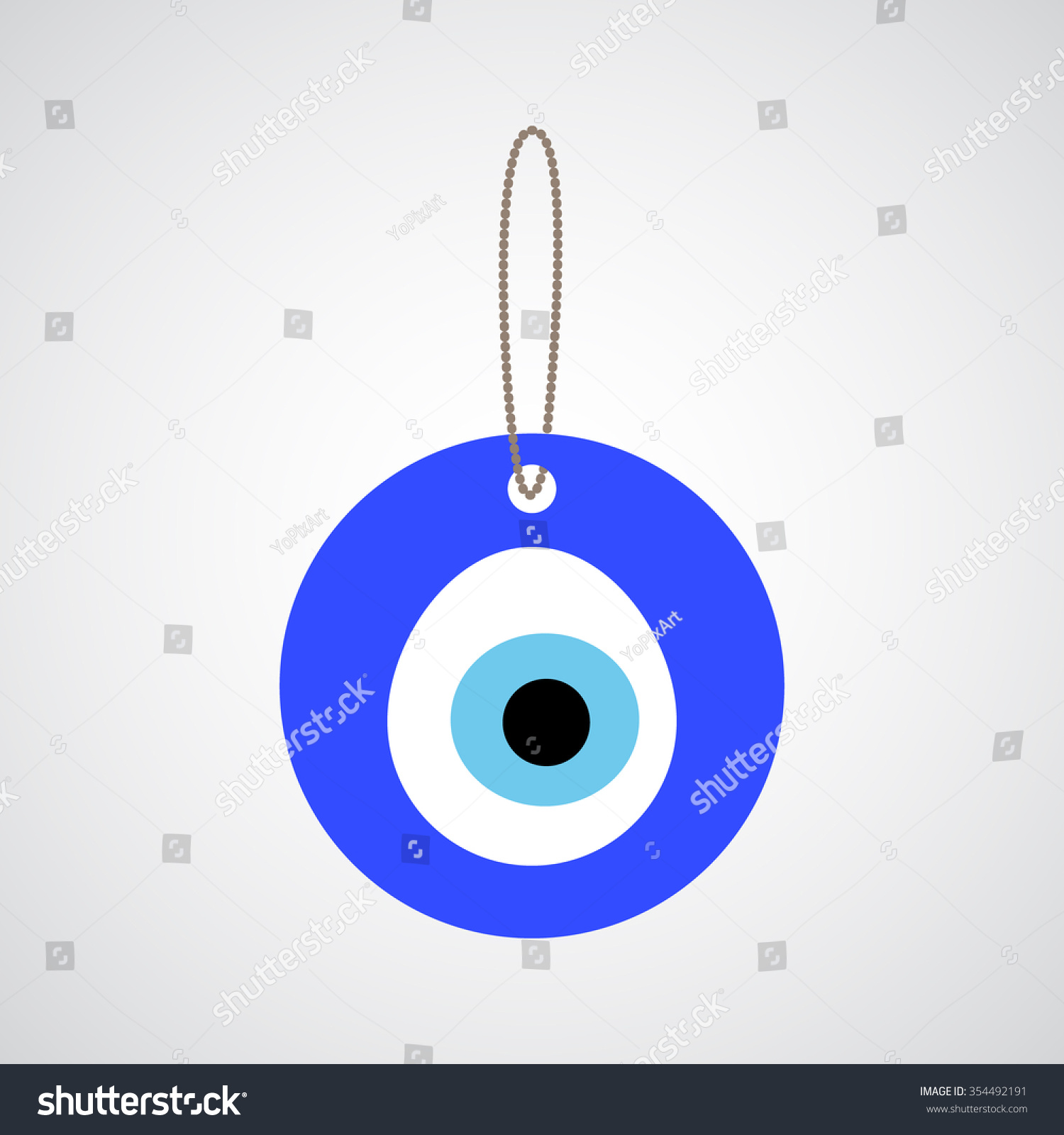 Turkish amulet nazar believed protect against stock vector turkish amulet nazar believed to protect against the evil eye eye bead icon biocorpaavc