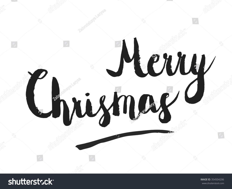 Christmas calligraphy phrase merry handwritten