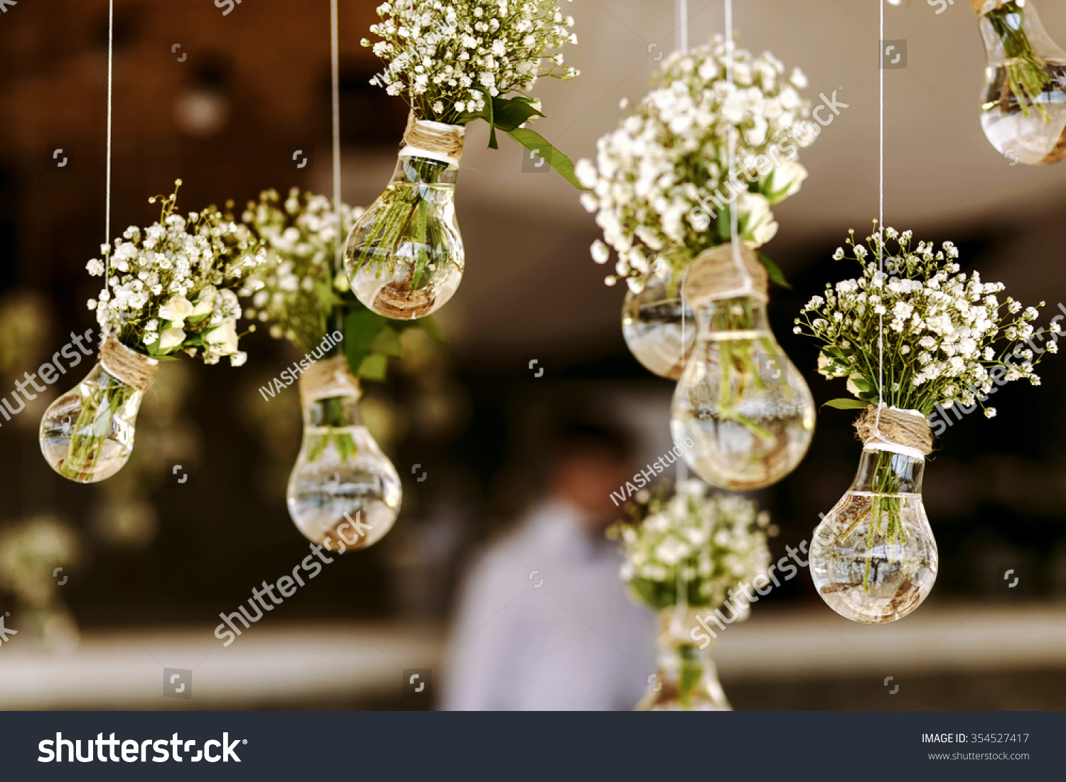 Original Wedding Floral Decoration In The Form Of Mini