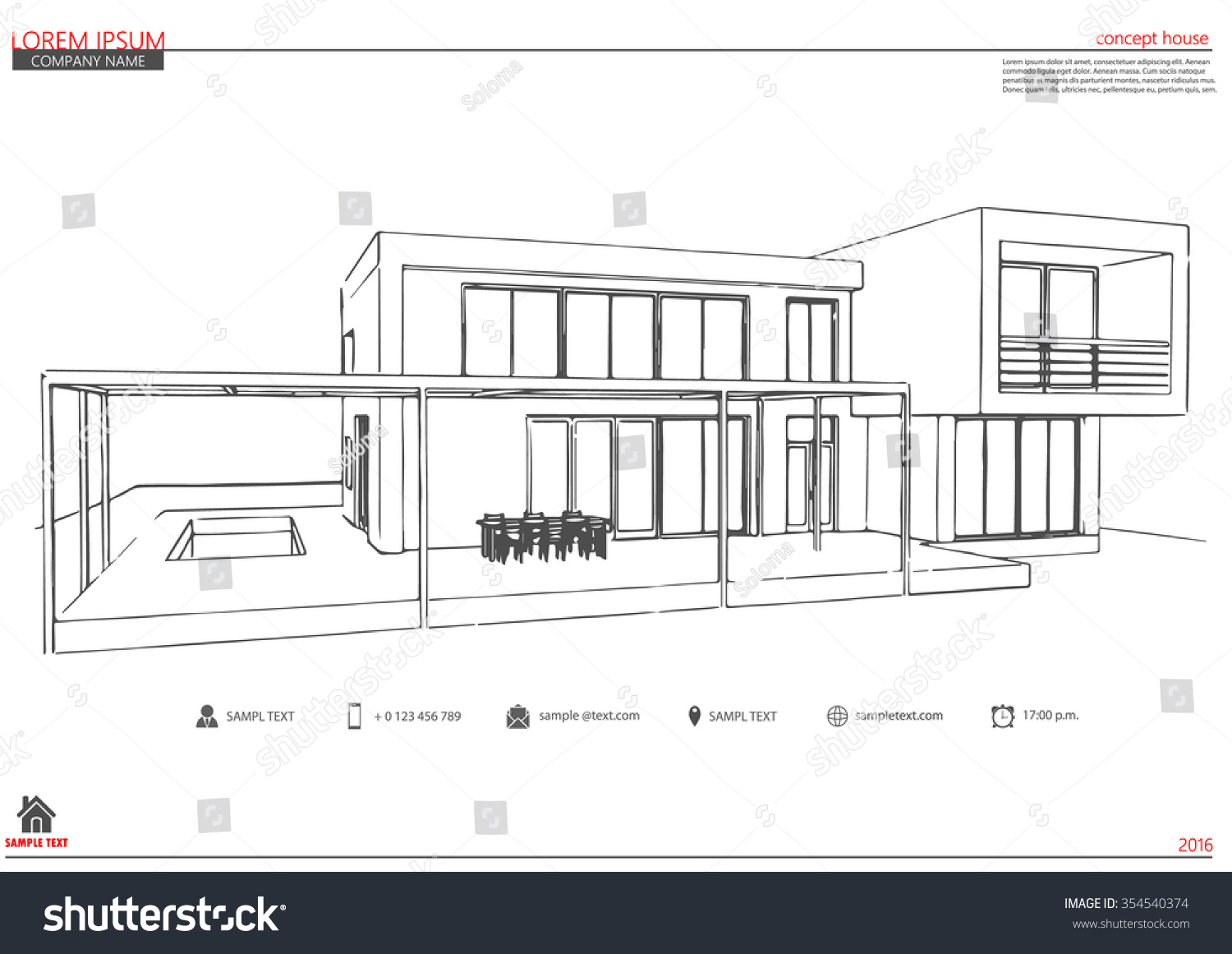 Wireframe Blueprint Drawing 3 D Building Vector Stock Vector ...