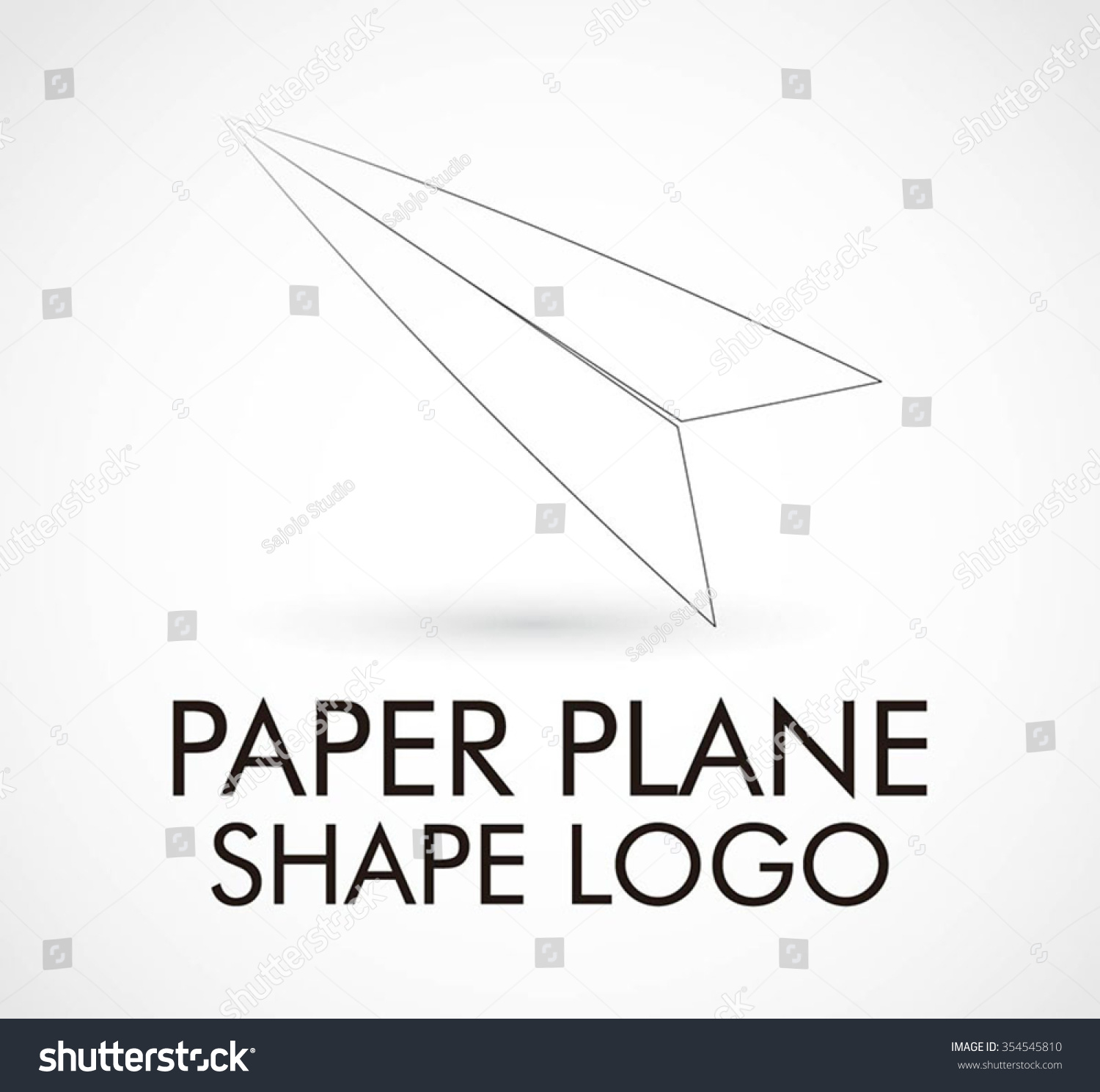 Paper plane craft origami abstract vector stock vector 354545810 paper plane of craft origami abstract vector and logo design or template fly art business icon pronofoot35fo Images