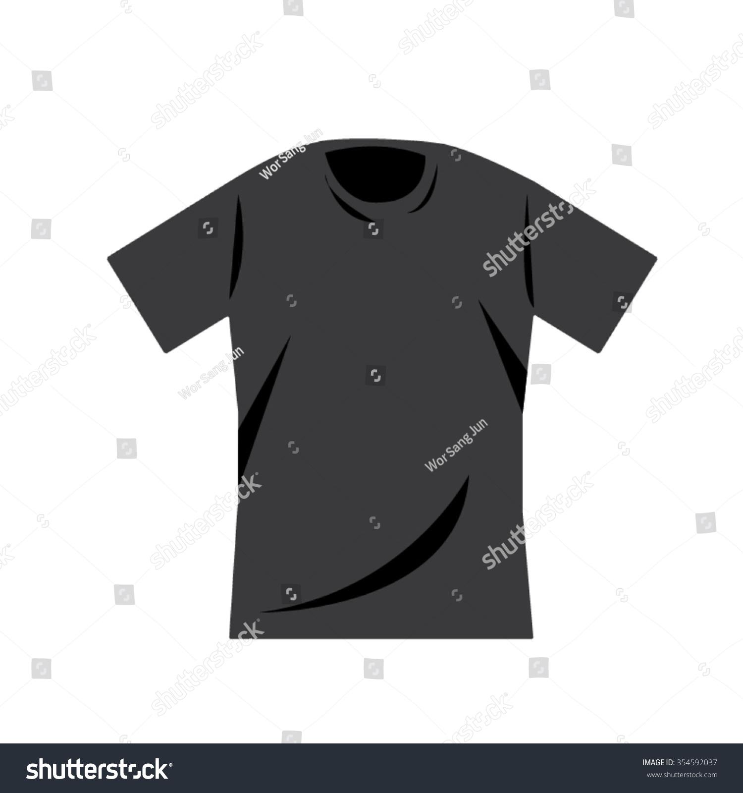 Black t shirt vector photoshop - Black T Shirt Vector