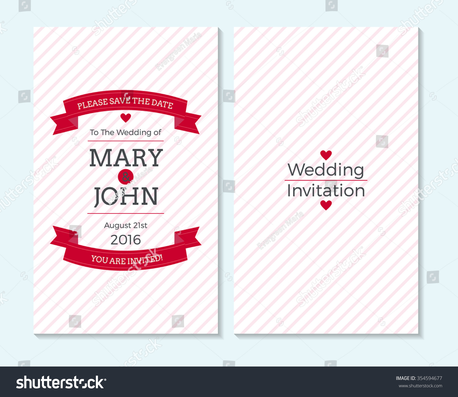 wedding invitation thank you card save stock vector 354594677 shutterstock. Black Bedroom Furniture Sets. Home Design Ideas