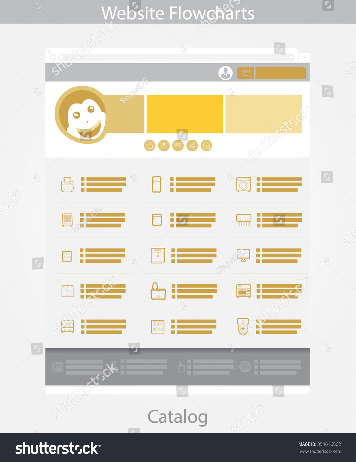 gold web template simple vector catalog stock vector royalty free
