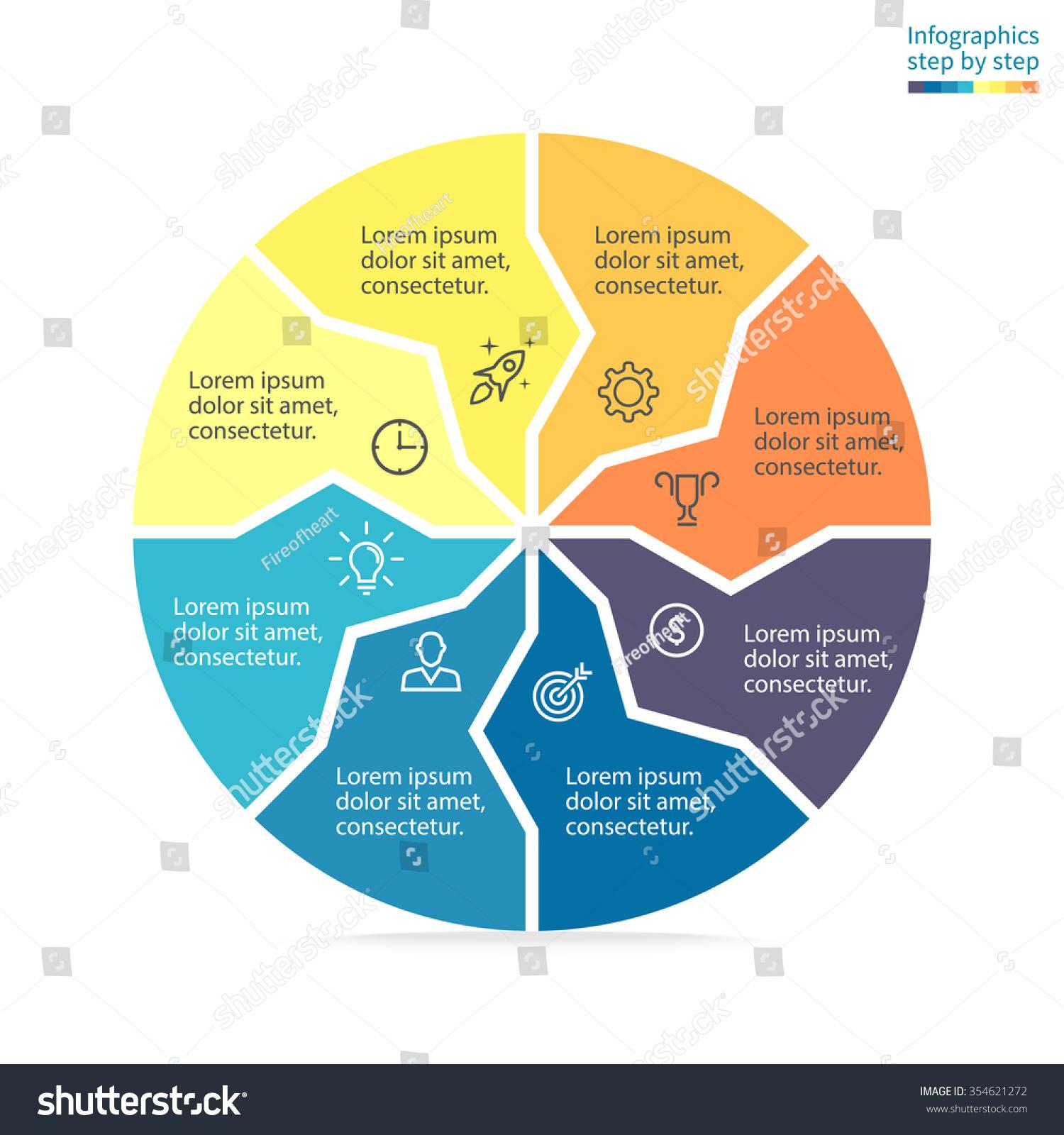 Circular Diagram Arrows Inside Pie Chart Stock Vector Royalty Free