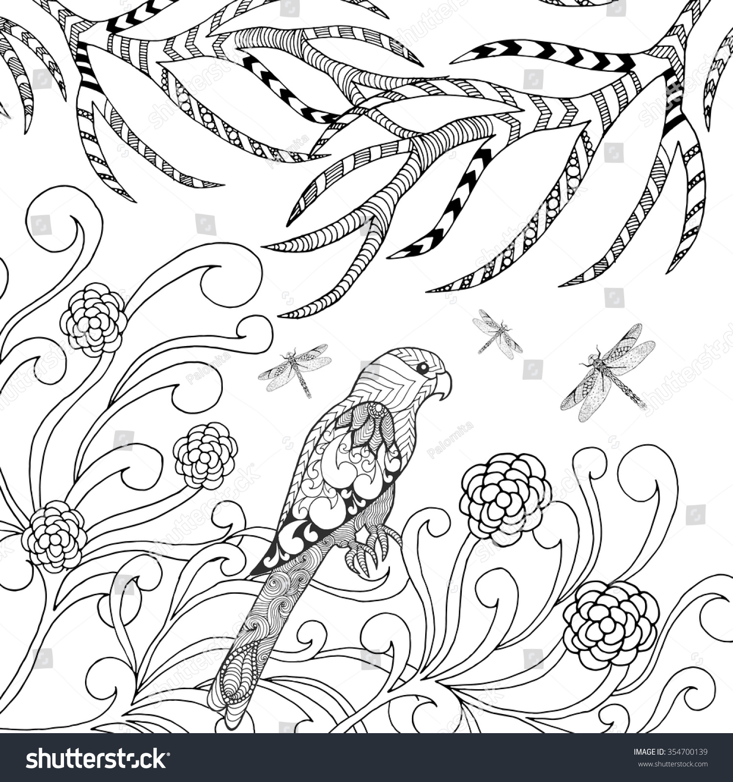 tropical bird coloring pages - photo#29