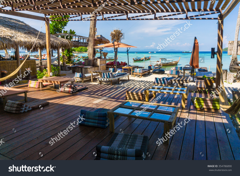 Luxury Beach Bar Resort At Tropical Island Lipe Thailand