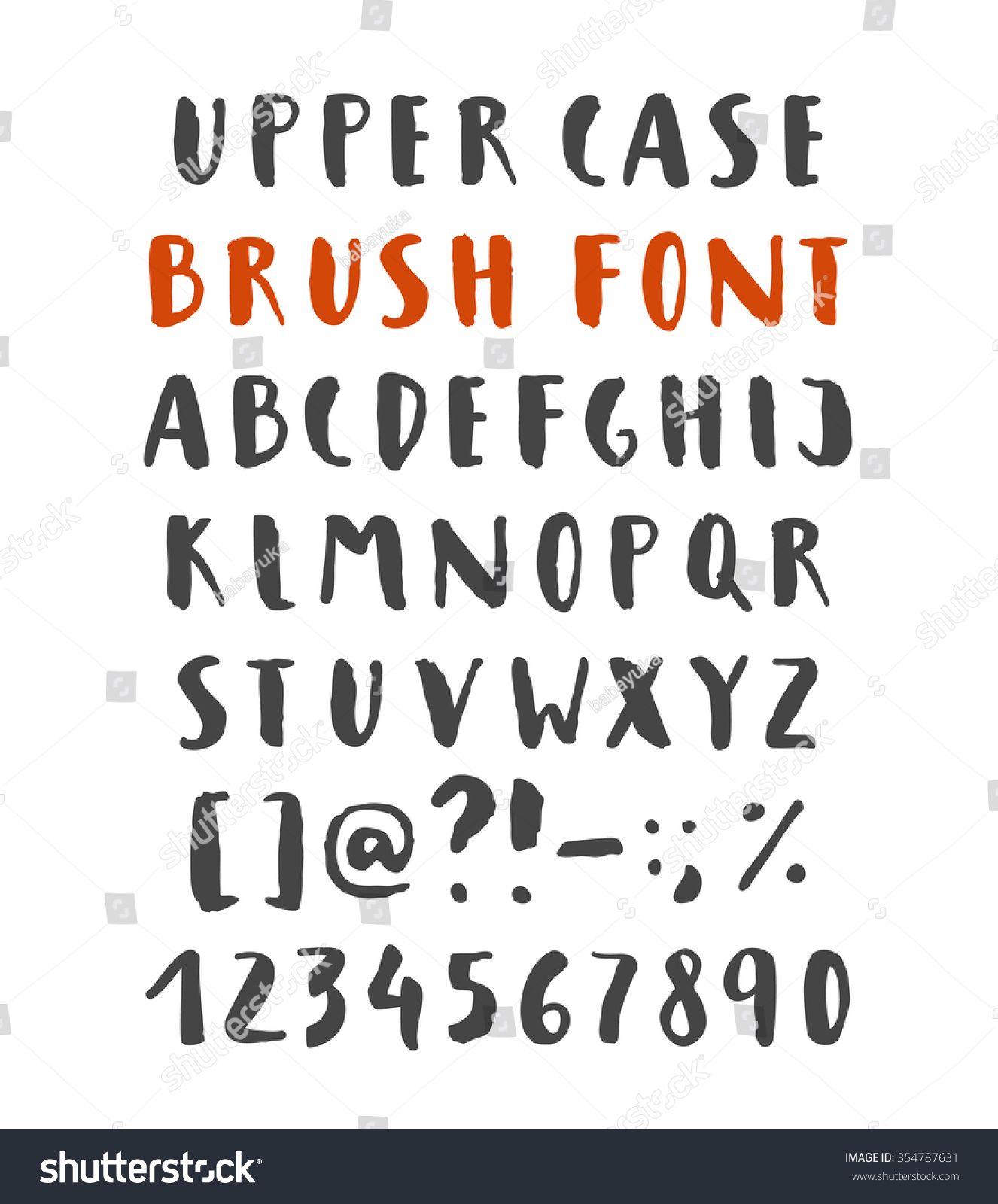 Hand written brush script font signs stock vector