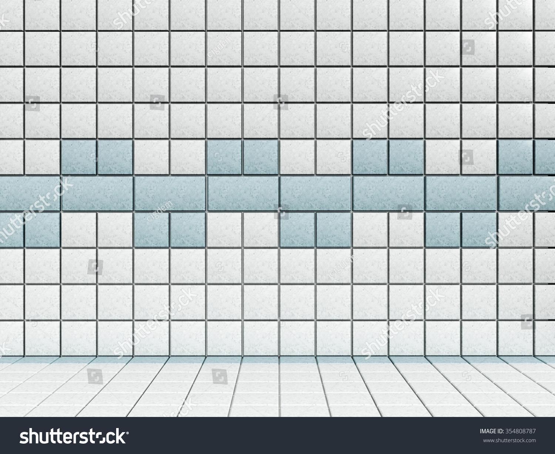 White Blue Bathroom Tiles Stock Illustration 354808787 - Shutterstock