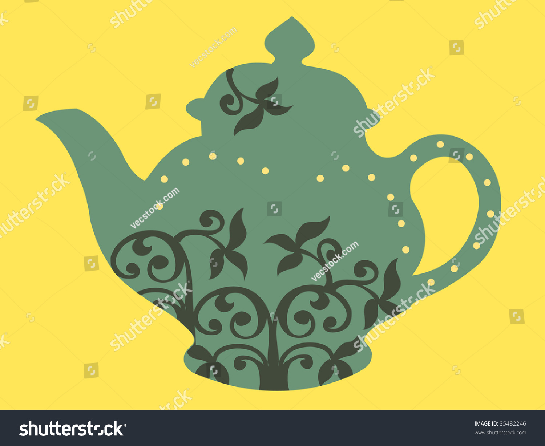 Vintage Teapot Design Stock Vector Illustration 35482246 ...