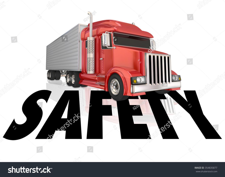 Safety Word Illustrate Safe Driving Secure Stock Illustration ...