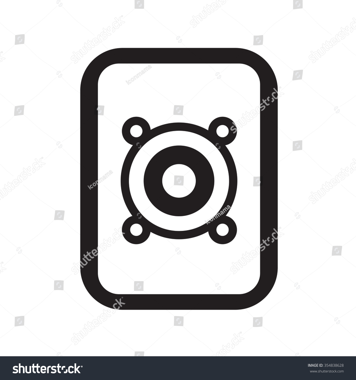 Loud Music Icon Stock Vector 354838628 Shutterstock