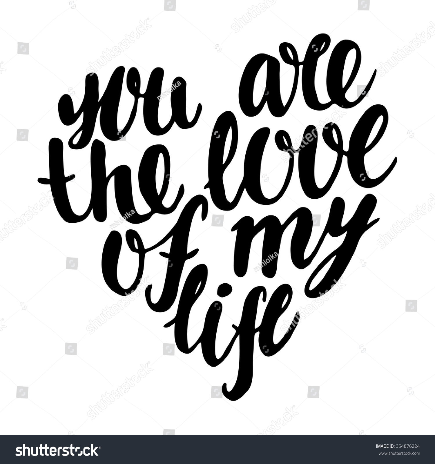 You love my life hand drawn stock vector 354876224 for The designlover