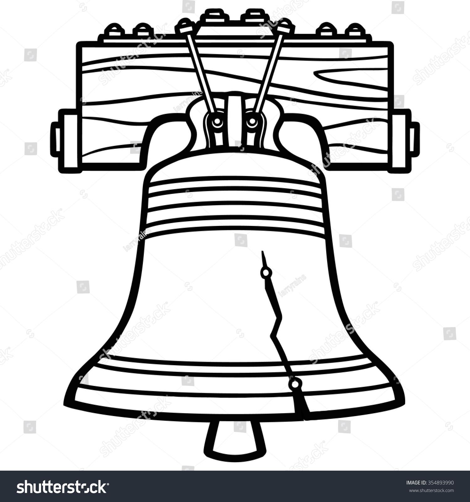 Liberty Bell Illustration Stock Vector 354893990 - Shutterstock