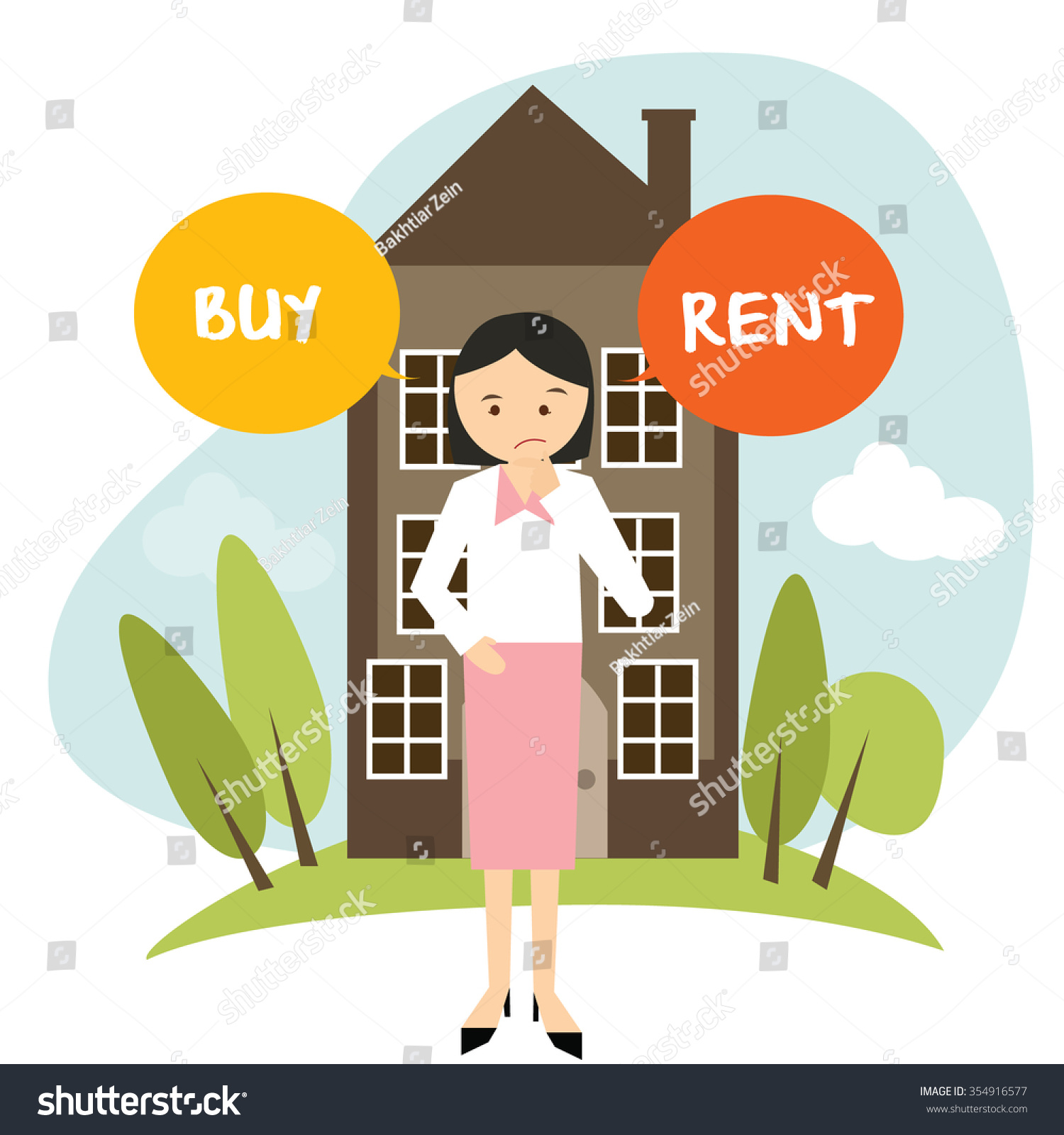 House For Rent Clip Art: Clipart Free Download